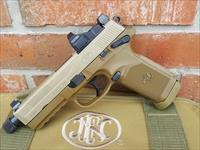 FN FNH FNX-45T ACP TACTICAL FDE, Vortex Viper 6 MOA Red Dot,(2) 15 round mags, Threaded barrel, SA/DA, Suppressor height Night Sights, manual safety, New In Soft Case, FREE LAYAWAY