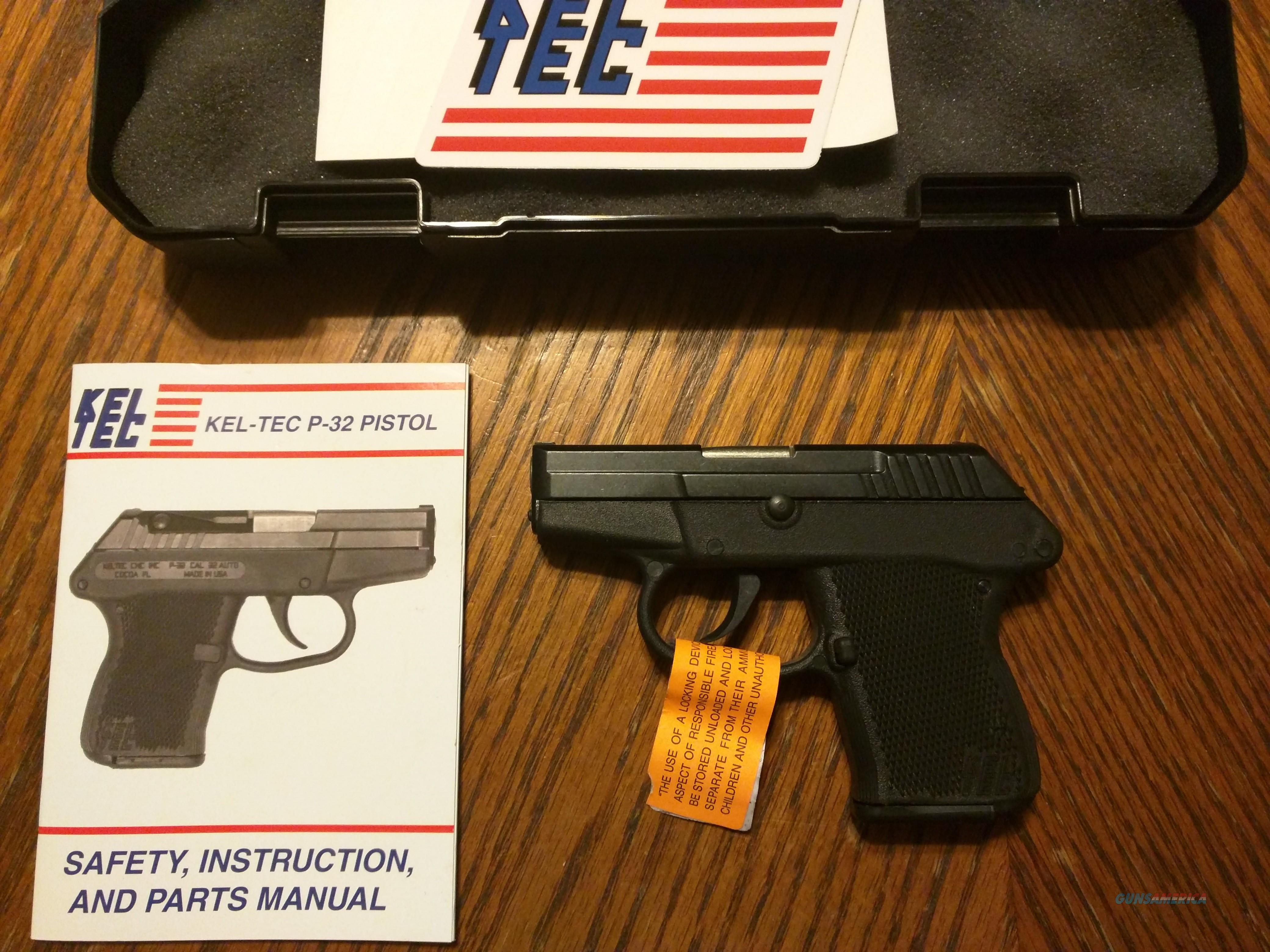 Keltec Kel Tec P32 32 ACP Pistol Tiny Pocket Pistol, Concealed Carry, fits  in the palm of your Hand, Lightweight NIB 7 Rd Mag DAO Trigger