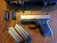 "Springfield XDS 9mm 2 Tone Stainless, 2 mags, 3.3"" Concealed Carry, NIB, Fiber Optic Front Sight"