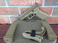 "Glock 19 X 19X Gen 5 9mm Coyote Tan Night Sights NIB No Finger Grooves (2) 19 Rd and (1) 17 Rd Mags 4"" G 19 Marksman Barrel G 17 Frame Ambi Slide Stop Ambi Mag Release Lanyard Loop Extra Back Straps Speed Loader SALE!!"
