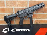 "CMMG Banshee 300 AR15 AR 15 Pistol 9mm Sniper Gray 5"" SBA3 Pistol Brace , FREE XTRA 33 Rd Glock Mag 2-33 Rd Magazines Total, Takes Glock Mags, Threaded Barrel RADIAL DELAYED BLOWBACK Billet Alum. NIB"