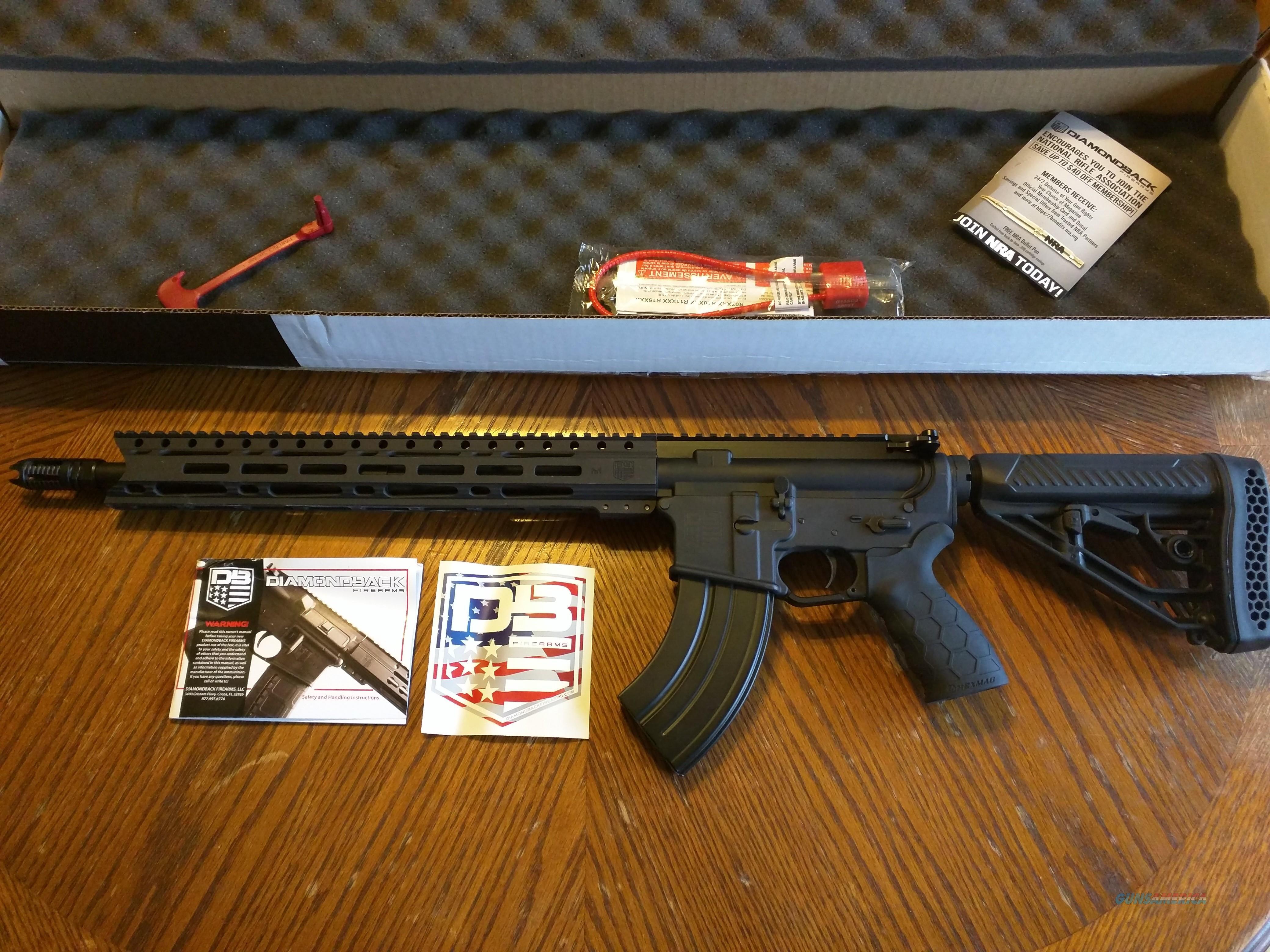 Diamondback DB 15 AR 15 7 62x39 AK 47 Caliber in an AR 15, 16