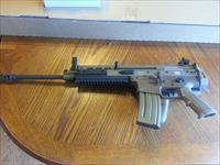 "FN FNH Scar 16s 5.56/223 FDE NIB Flip Up Sights 30 Rd 16"" FREE 4 MONTH LAYAWAY!!  Chrome Lined Piston Driven"
