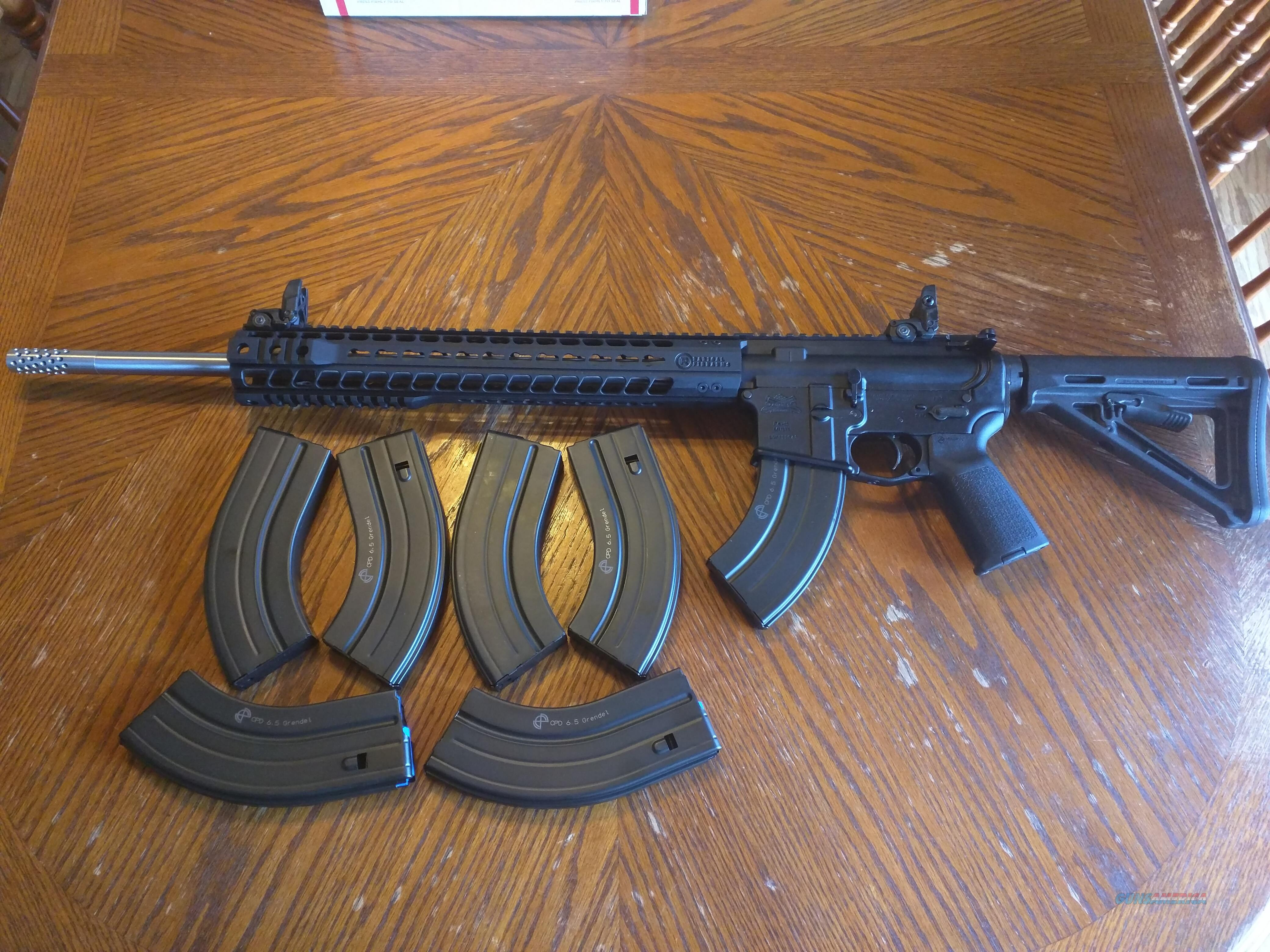Radical Firearms AR15 AR 15 6 5 Grendel NEW, PSA Lower Magpul Stock and  Grip, Magpul MBUS Flip Up Si