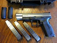 "Springfield Armory XDM 9mm 5.25"" Stainless 2 Tone NIB (3) 19 Rd Mags Fiber Optic Sight Striker Fired NICE TRIGGER"