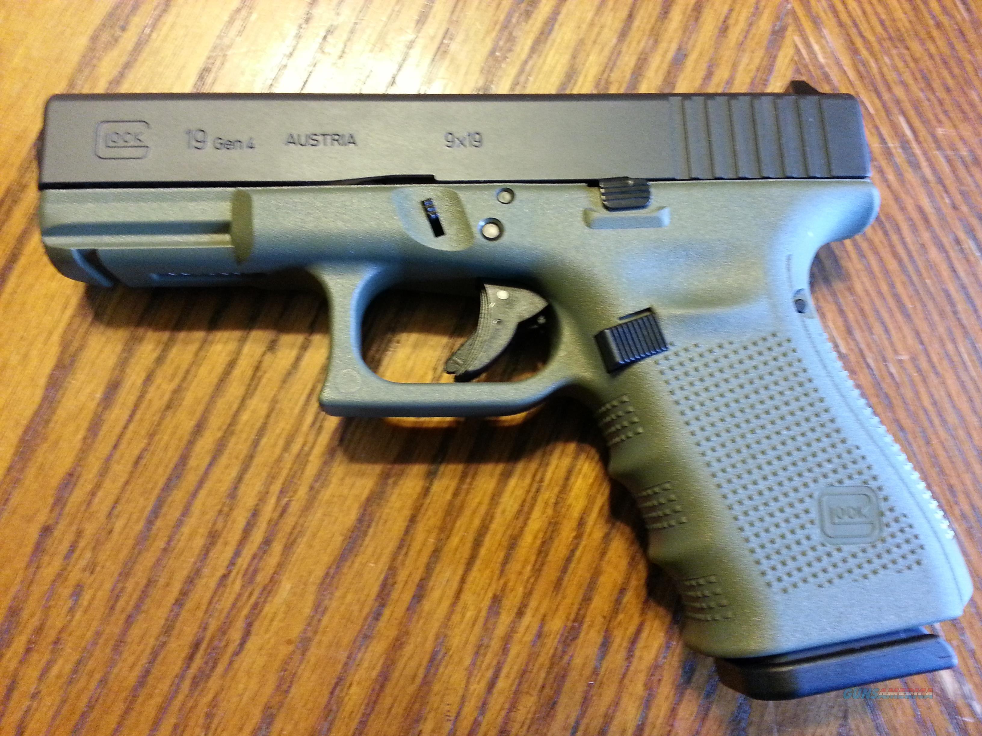 No Credit Check Auto Sales >> Glock 19 Gen 4 BFG Battle Field Green (3) 15 rd... for sale