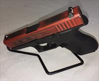 Glock 42 .380 Custom Cerakote (DeadPool) Distressed