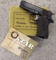 Star BM 9 mm Luger w/box, manual, cleaning rod