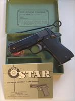 Star BM Pistol 9 mm Luger with original box, manual, cleaning rod