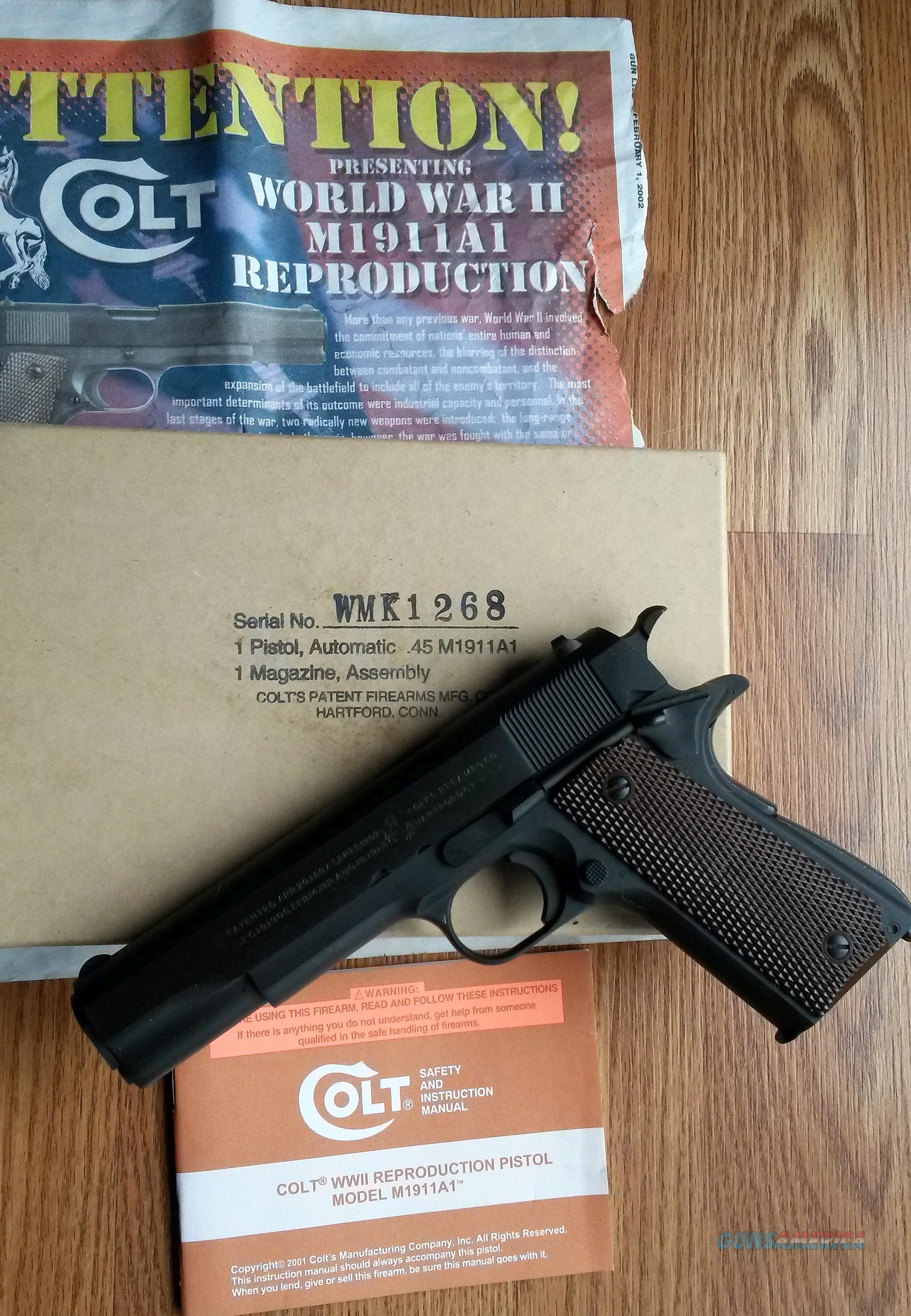 Colt M1911a1 Manual Wiring Diagram Model 1911a1 Parts Wwii Repro Pistol Nib For Sale Rh Gunsamerica Com 1911 Pdf
