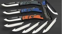 Outdoor Edge Razor-lite EDC Replaceable blades 6 blades Blue Grey or Orange Sharp Folding Knife