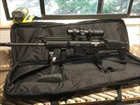 Black FNH SCAR 17s with Leupold Mark 6 Scope, Atlas Bipod, 8 magazines, 5.11 carry bag and Limbsaver
