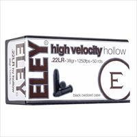 Eley High Velocity, 40gr, Hollow Point, 50rds/Box