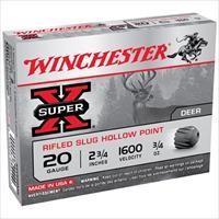 WINCHESTER SUPER-X RIFLED SLUG 20GAUGE 2.75' 3/4 OZ. VALUE PACK (