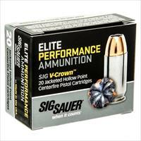 Sig Elite Performance 38 Super +P 125gr V-Crown JHP 20/bx
