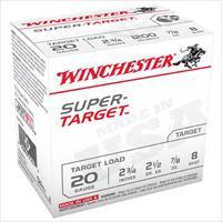 WINCHESTER AMMO 20 GAUGE 2 3/4IN 7/8OZ SUPER TARGET #8 (25 ROUNDS