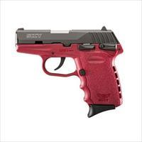 SCCY CPX-1 CBCR 9MM BLACK/CRIMSON (DOUBLE SIDED SAFETY)