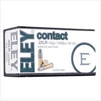 Eley Contact 22LR, 42gr Round Nose, 50rds/Box