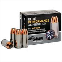 Sig Elite Performance 45 ACP 200gr V-Crown JHP 20/bx