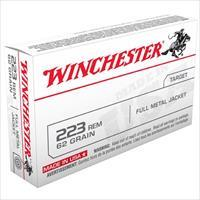 Winchester Ammo 223 Rem USA 62 gr FMJ