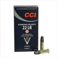 CCI Ammo 22lr Standard Velocity 40gr Lead Round Nose 50/bx