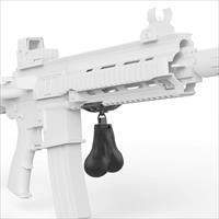 Gunsticles Tactical Testicles | Rail Mounted Gun Nuts | Tactical Black