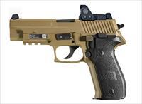 Sig Sauer P226 9MM FDE Romeo1 Reflex Sight with free 2 Gun Case