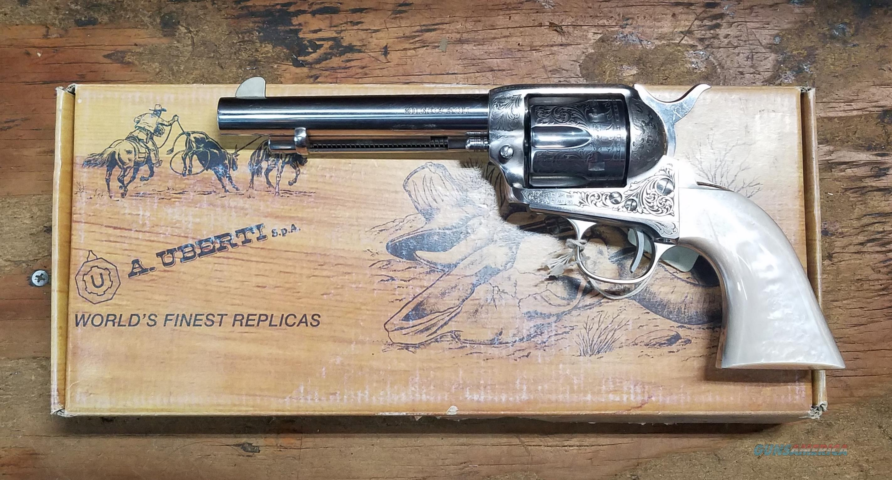 Uberti 1873 Limited Ed Engraved Cattleman Revolver NM Stainless Steel U356077 Pistol