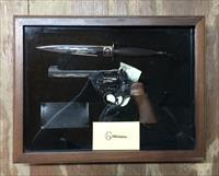 Cased WWII Commando Special Edition Commemorative British Enfield No. 2 Mk I .38 caliber Double Action Revolver and Fairbairn Sykes Fighting Knife