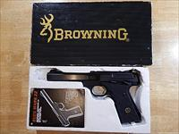 "NIB 1985 Browning BuckMark 22LR with 5.5"" Slab-Side Bull Barrel"