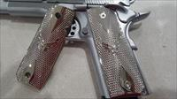 1911 Grips US Air Force Full Size Checkered Nickel Plated Screws Included
