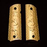 1911 Grips PISTOL GRIPS FULL SIZE CUSTOM GRIPS GOLD PLATED SCREWS INCLUDED