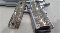 Luxury FIT ALL 1911 Grips COLT GRIPS Full Size Nickel Plated W Matching Screws