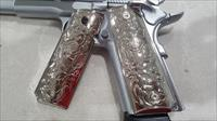 Luxury FOR 1911 Grips COLT GRIPS Full Size Nickel Plated W Matching Screws