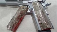 LUXURY 1911 GRIPS FULL SIZE GOVERNMENT METAL Grips Scroll GRIPS Nickel