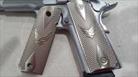 FIT ALL 1911 COLT US Air Force GRIPS Full Size Brushed Nickel Plated Screws included