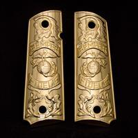 1911 GRIPS COLT PISTOL Colt FIDELIS GRIPS Full Size Gold Plated Screws Included