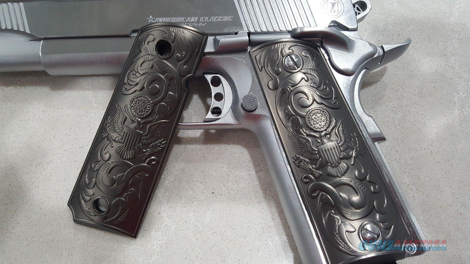 1911 Grips PISTOL METAL GRIPS Colt Full Size Government US Army Black