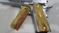 FIT ALL 1911 COLT US Air Force GRIPS FULL SIZE GOVERNMENT METAL CHECKERED GOLD PLATED