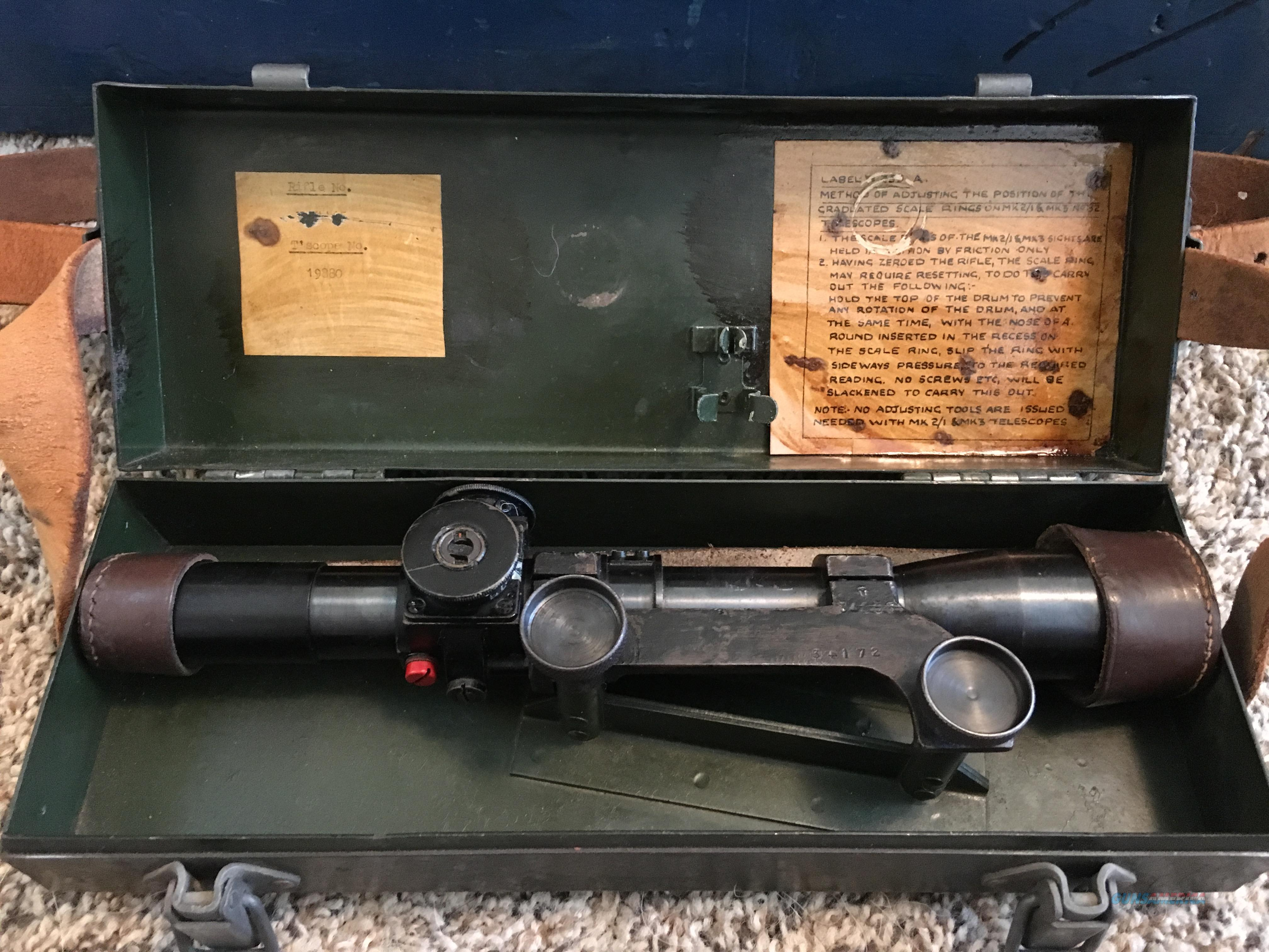 No 4 Mk 1 T Lee-Enfield Sniper Rifle with Scope and Cases