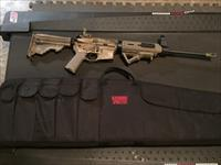 DPMS AR-15 with ammo, case, and magazines