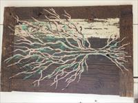 Skeletal Tree on Reclaimed Barnwood