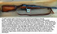 """GUILD"" GERMAN SPORTER ON GEW88 ACTION, 8X57J"