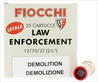 "Fiocchi 12Ledemo Lead And Wax Buckshot/Slug 12 Gauge 2.75"" 1 Oz Slug Shot 25 Bx 12LEDEMO"