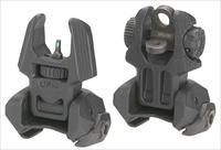 Mako Frbsm2d Flip Up Front/Rear Sights With Tritium 2 Rear Dots Ar-15/M4/M16 M2D-FRBS