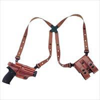 "Galco Mc228 Miami Classic Shoulder System Fits Chest Up To 52"" Glock 20/21/29/30 Steerhide Tan MC228"
