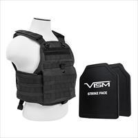 "Nc Star Plate Carrier Vest With 10"" X 12"" Pe Hard Plates BPCVPCV2924B-A"