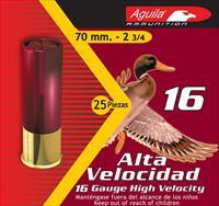 "Aguila 1Chb1606 Hunting High Velocity 16 Gauge 2.75"" 1-1/8 Oz 6 Shot 25 Bx/ 10 1CHB1606"