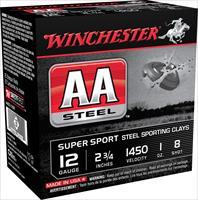 "Winchester Ammo Aascl12s8 Aa Steel 12 Gauge 2.75"" 1 Oz 8 Shot 25 Bx/ 10 Cs AASCL12S8"