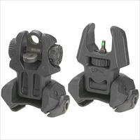 Mako Group Flip Up Sights Front Rear Set W/ Tritium Blk M4D-FRBS